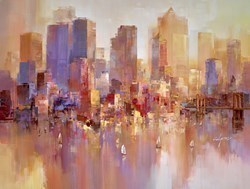 Golden Harbour IV by Wilfred -  sized 46x34 inches. Available from Whitewall Galleries